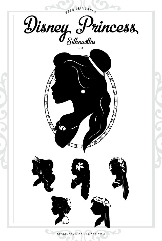 Disney Princess Silhouettes V 4 Disney Princess