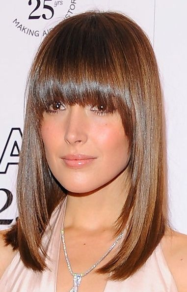 Medium Length Hairstyles With Bangs Gorgeous 13 Best Bangs Images On Pinterest  Straight Bangs Hair Cut And