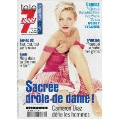 Cameron Diaz défie les hommes : Sacrée drôle de dame !, dans Télé 7 jours (n°2081) du 15/04/2000 [Couverture isolée + article de 4 pages mis en vente par Presse-Mémoire]