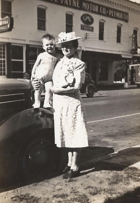 David Lee Swope with Grandmother Sarah Bell Gillim (late 1940's)
