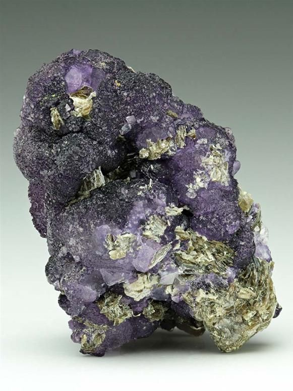 A rare botryoidal fluorite from the occurrence at Cínovec/Zinnwald area that straddles the Germany & Czech Republic border.  Crystal Classics Minerals