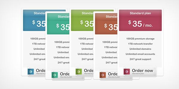 37 Free Pricing Table PSD Templates English Flow Pinterest - free comparison chart template