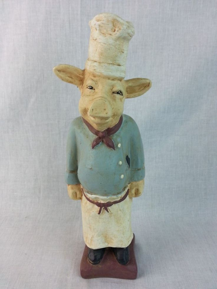 Quot Chef Pigere Quot Pig For Kitchen Or Bar Table Decoration Hat