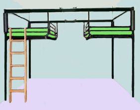 College Loft Bed With Desk | college and university housing residence life departments double loft ...