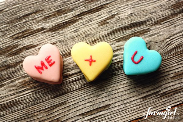 Homemade Marshmallow Conversation Hearts. Gavin and I are going to ...