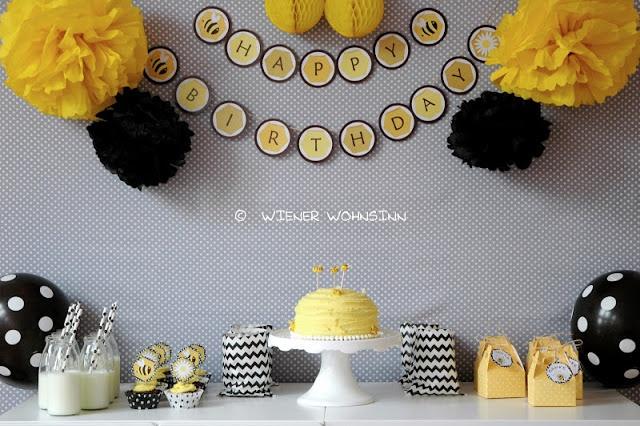 Wiener wohnsinn sweet bumble bee birthday party sweet table buffets inspiration and table - Wiener wohnsinn ...