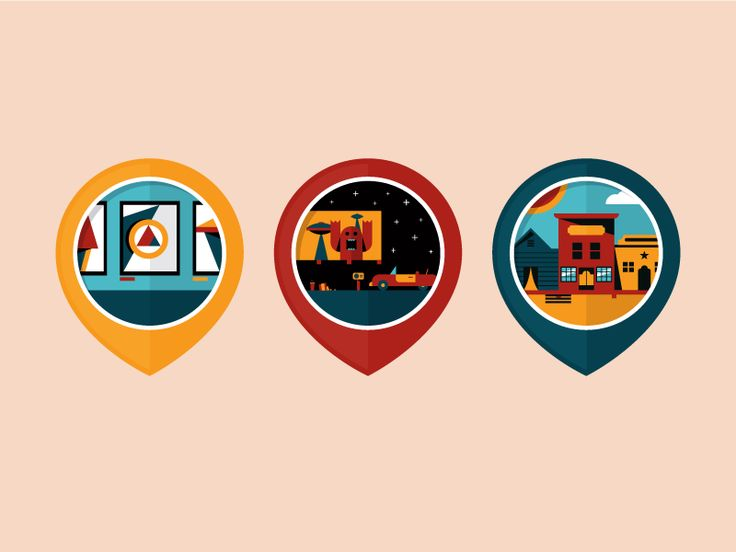 Local Attractions Badges by Dangerdom