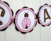 ITS A GIRL Baby Shower Banner - Ladybug Party Supplies in Pink and BrownShower Ideas, Ladybugs Baby, Girl Baby Showers, Baby Shower Banners, First Birthday, Birthday Party Decorations, Girls Baby Shower, Ladybugs Parties, Birthday Parties Decor