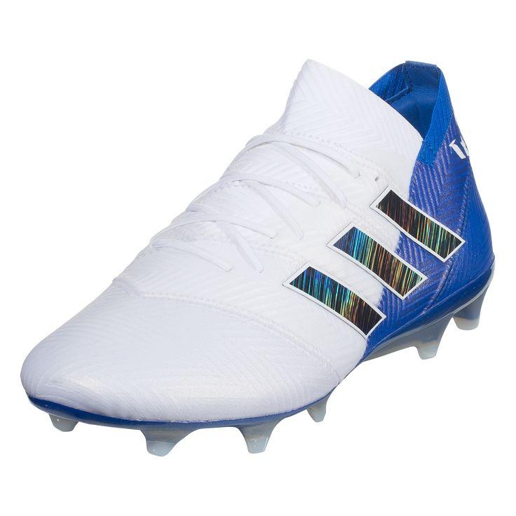 e8e296870b3184 adidas Nemeziz Messi 18.1 FG Soccer Cleats White Black Blue-13 ...
