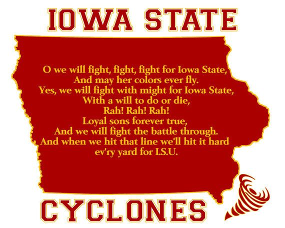 Iowa State Cyclones Football Fight Song by PatriotIslandDesigns, $19.50