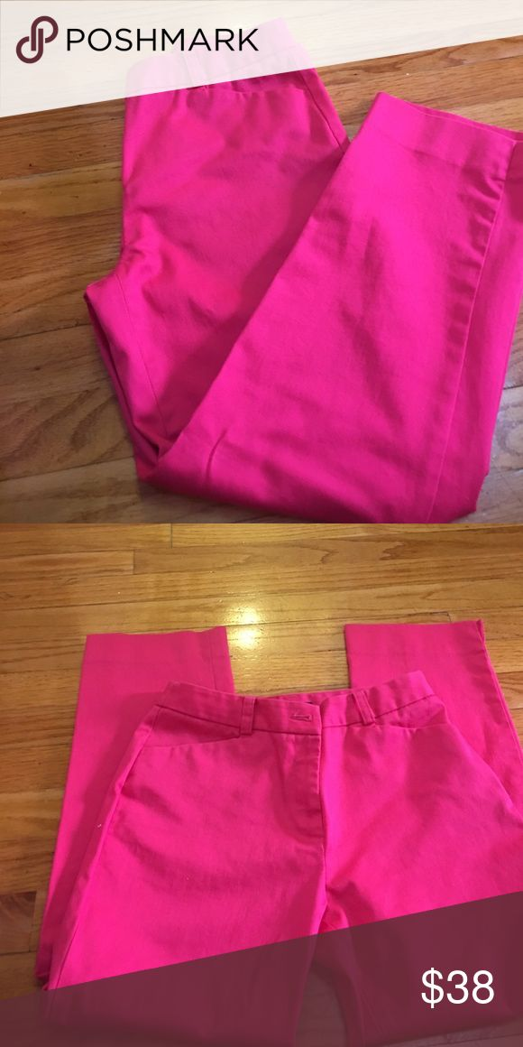 Hot pink pants !! Hot pink pant, wore once. Non smoke no pet home. Jones New York Pants Trousers