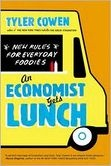 An Economist Gets Lunch: New Rules for Everyday Foodies by Tyler Cowen.  Interesting ideas about how to scope out good eateries in unfamiliar places; questionable ideas in favor of GMOs and Monsanto (he cites Cato Institute twice). Overall impression: Someone on the academic gravey train who spends his time jetting around the world and eating out on a very large personal budget or expense account while lecturing about cutting down on carbon emissions. Hmm.