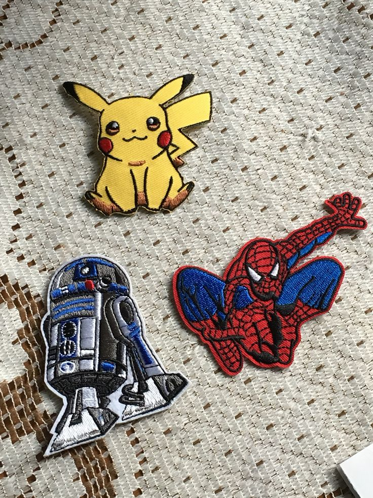 Patchs rd-d2 Spider-Man pickachu