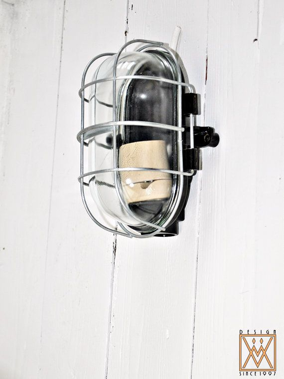 Vintage Industrial 1960's Explosion Proof Ceiling Lamp / Wall Lamp / Sconce / Bakelite case