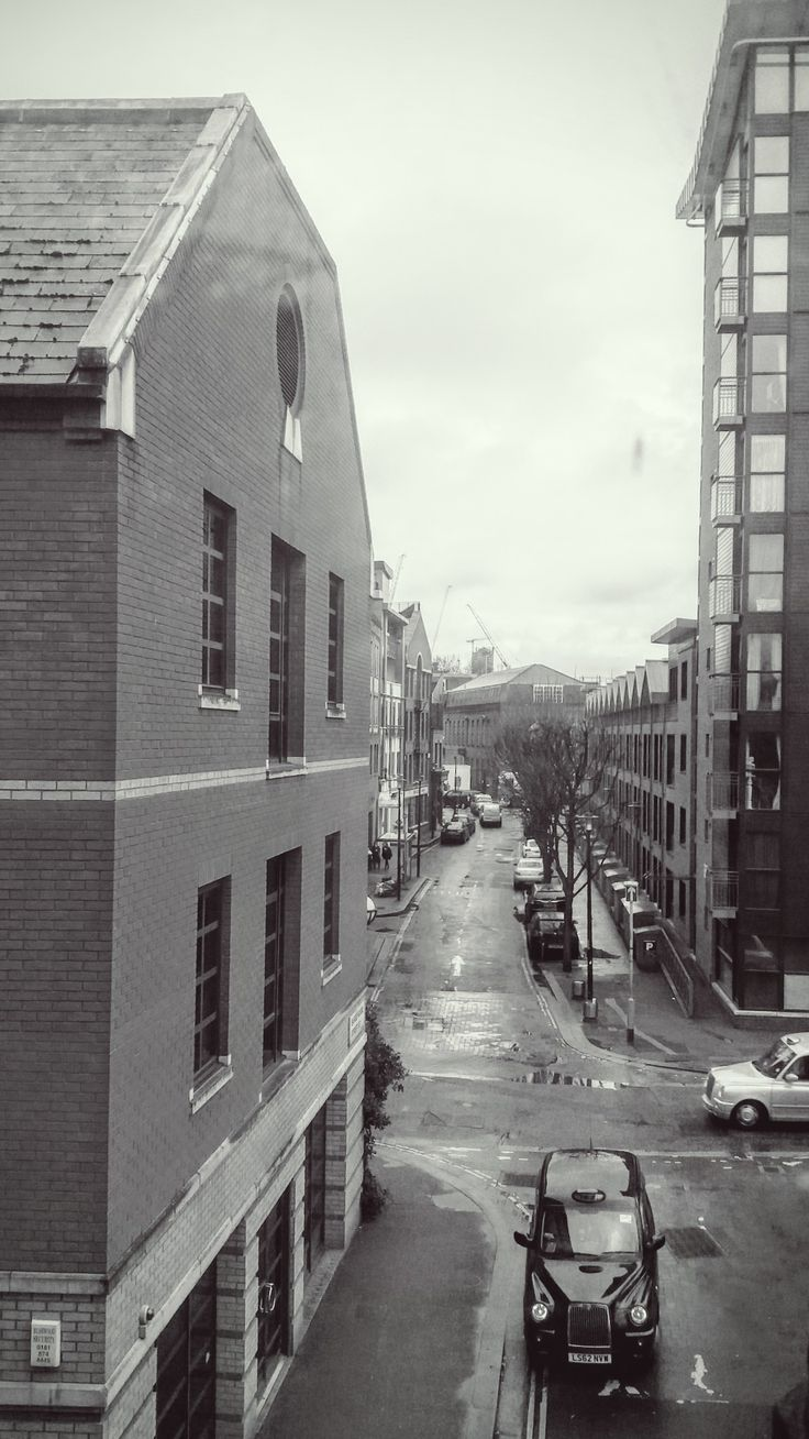 View of street from inside Bargehouse, Oxo Tower Wharf