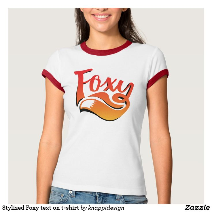 Stylized Foxy text on t-shirt.   #foxy #illustration #foxygirl #foxylady #sexy #graphic #textillustration #foxtail #tail #fox #tshirt #foxshirt #foxyshirt #sexything #girlie #shadowed #textshirt #calligraphy