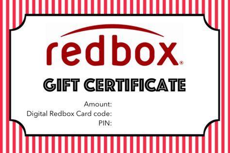 "free redbox ""gift certificate"" printable | kīkīao"