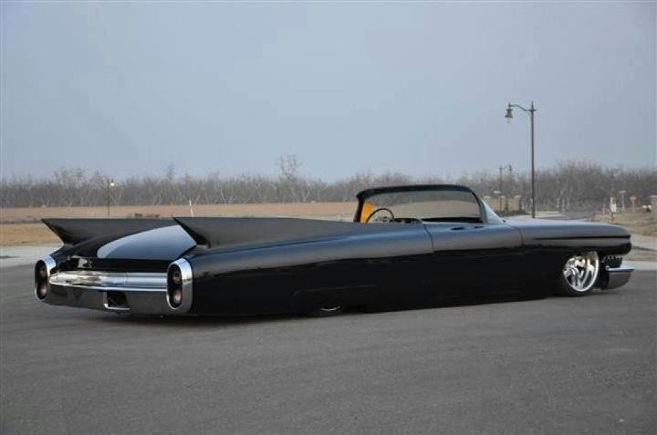 Love this 60 Caddy! I would have never guessed that such a large, slab sided car…