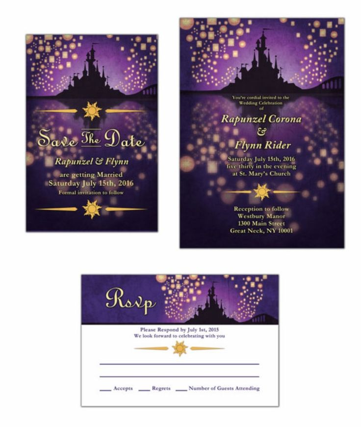 how to make wedding invitation card in microsoft word007%0A Tangled Save the Dates and Invites