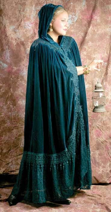 """Wuthering Heights"" long green cloak from Victorian Trading Co."