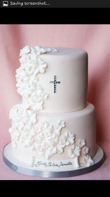 Wedding cake for a small gathering...cute!!