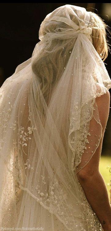 Romantic Bridal Style Voile délicat