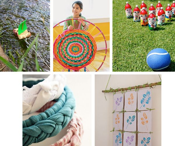 5 fun recycled crafts for kids from Whip Up