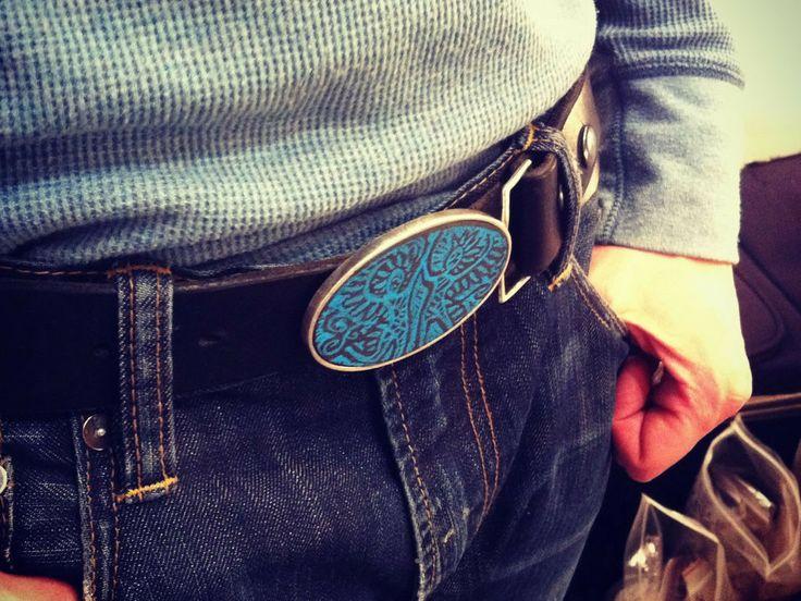 slate belt buckle - Vancouver Jewellery sterling silver and slate belt buckle low tech instant messagine