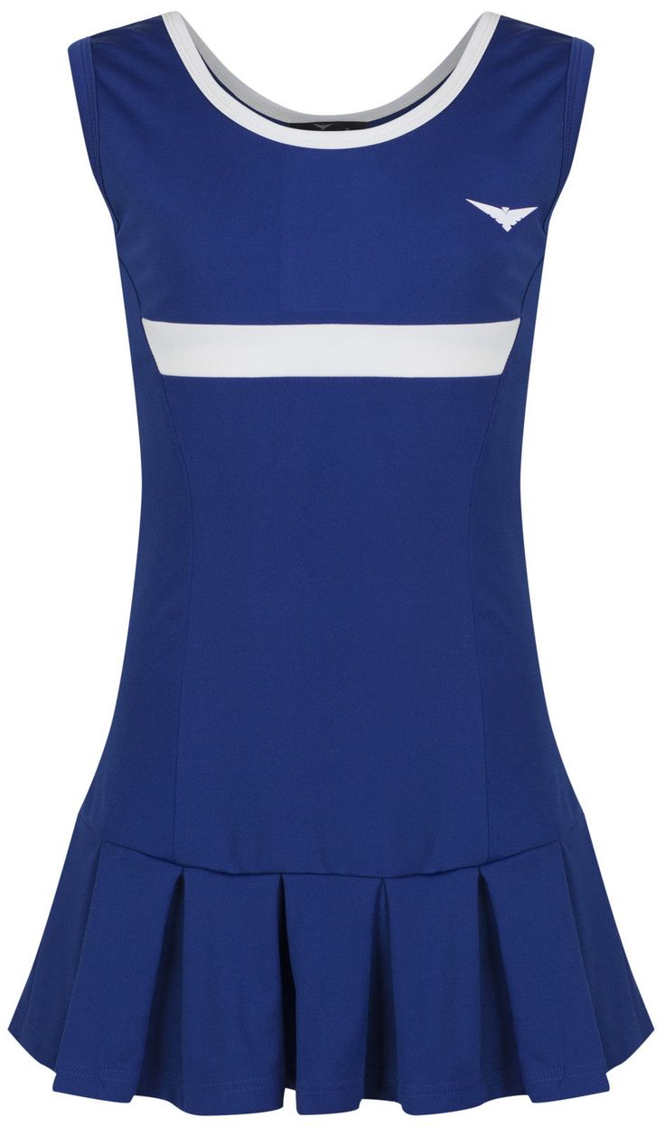 #Girls blue & white #tennis #dress with underpants netball/badminton 5-14 years o,  View more on the LINK: 	http://www.zeppy.io/product/gb/2/152270929577/