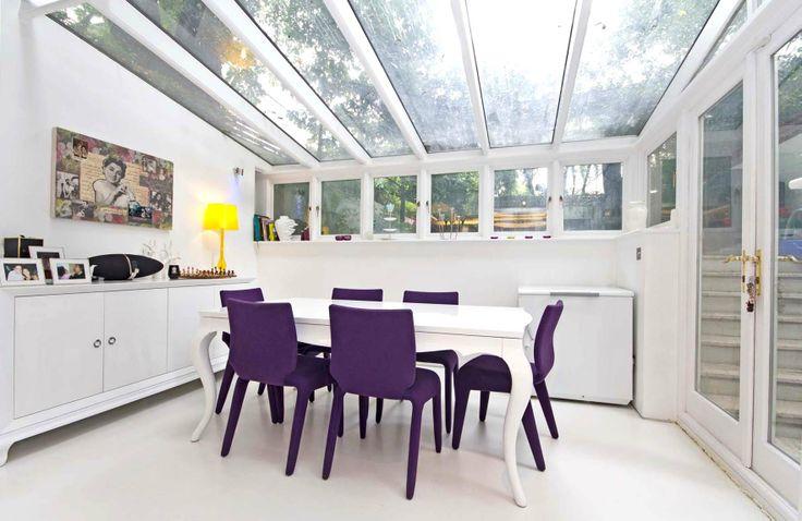 Dining room basement flat London SW10 #cutlerandbond #basementflat #gardenflat #londonproperty