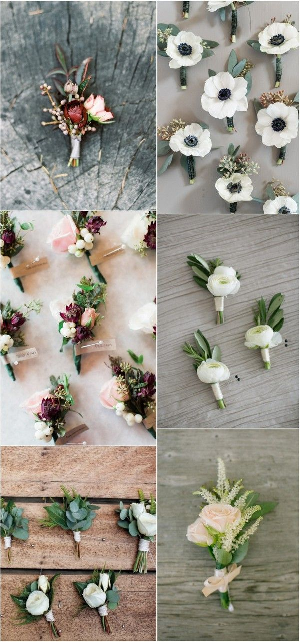 Wedding Boutonnieres for Groom and Groomsmen #weddingflowers #weddingideas #weddingdecor #groom #groomsmen