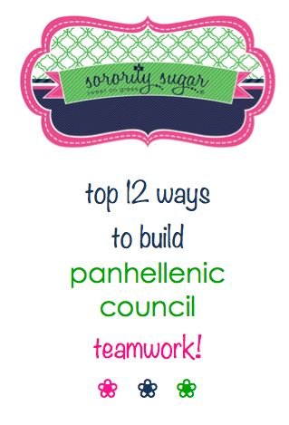 Sororities are naturally competitive and full of chapter pride. But when chapters come together on a Panhellenic Council, all of a sudden they are expected to bond and get along with other sisters!  When Panhellenic cooperation and harmony is needed, try some of these helpful tips for increasing sorority-to-sorority bonding. <3 BLOG LINK: http://sororitysugar.tumblr.com/post/76773140646/panhellenic-unity-building-team-spirit#notes
