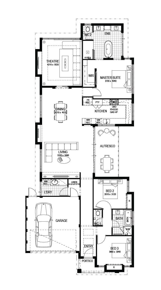 Display Homes Dayton The Springvale Impressions Bungalow House Plans Display Homes Show Home