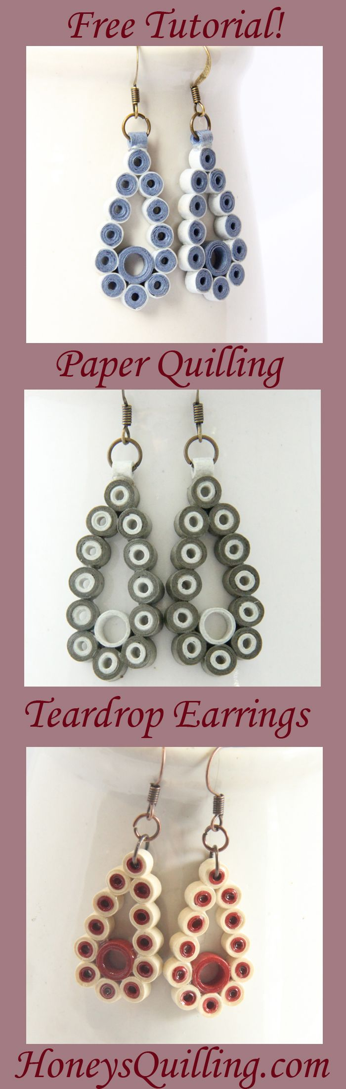 best 25+ paper quilling earrings ideas on pinterest | paper