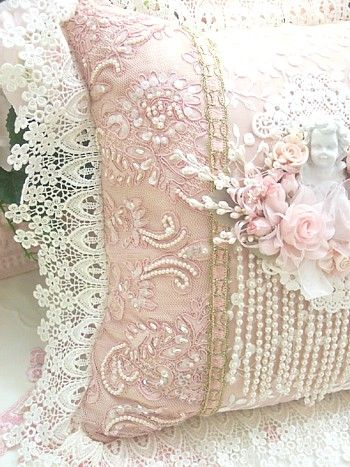 Embellished Shabby Chic Pillow