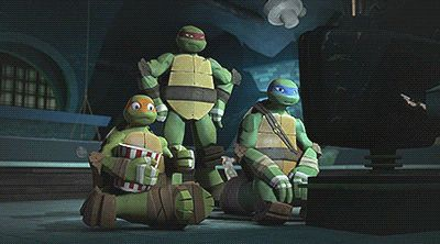 Raph is totally me with my friends. I always steal their food while they're not looking.