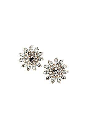 flower crystal earrings #deartopshop