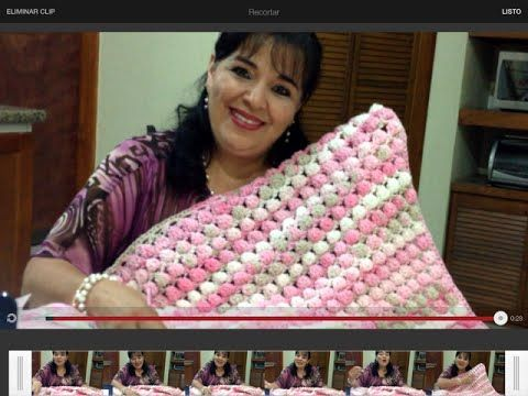Crochet : Punto Mariposa Recto. Parte 1 de 2 - YouTube