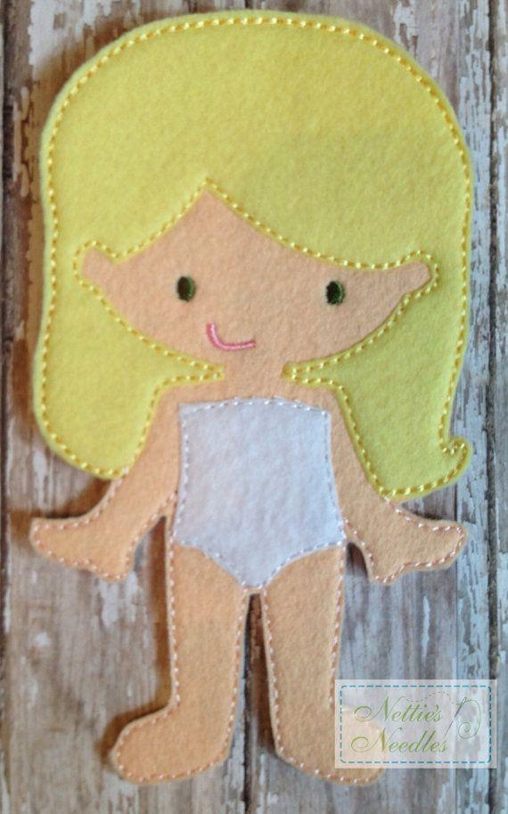 Felt Un Paper Molly Doll by NettiesNeedlesToo on Etsy, $6.00