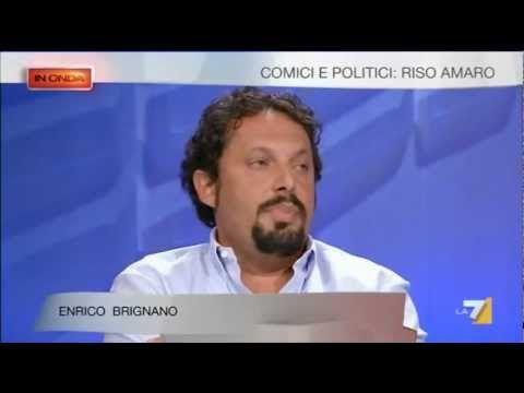 Il politico Brignano v/s la comica ravetto - Io vado a casa di Beppe gri...