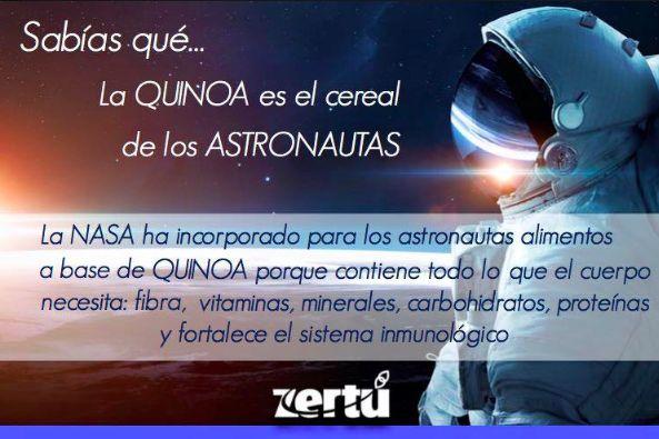 ¿Sabías que la QUINOA es el cereal de los astronautas? @zertumx #quinoa #nutricion #saludable #meditacion #yoga #zen #recetas #zertu #sertumismo