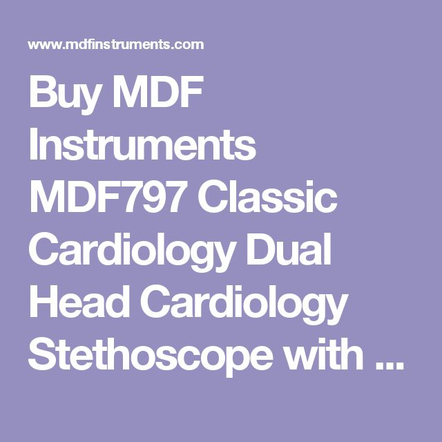 Buy MDF Instruments MDF797 Classic Cardiology Dual Head Cardiology Stethoscope with Stainless Steel Chestpiece and Headset |  Free Parts for Life