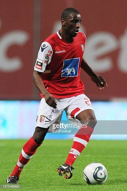 Djamal of SC Braga in action during the Liga Portugal match between SC Braga and CD Nacional at the Estadio Municipal de Braga on September 25 2011...