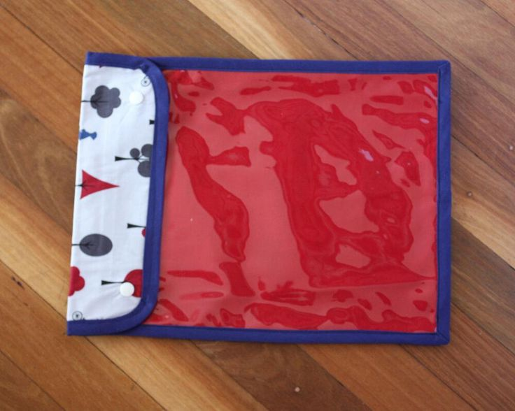 Handmade Puzzle Pouch with see through vinyl cover - 26 x 34cm (10 x 13 inches) - Navy Blue   Red   Bicycle   Toy storage by LilSisandtheGuru on Etsy