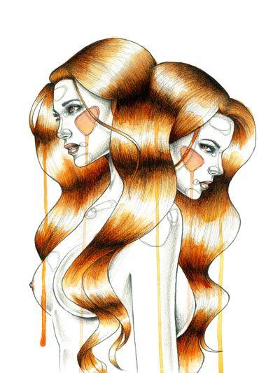 """Gemini"" Art Print by Mia Desu   Society6"