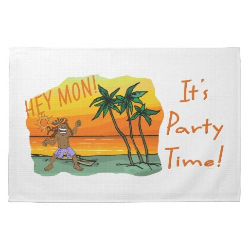 Funny Jamaica Hey Mon Its Party Time Towel