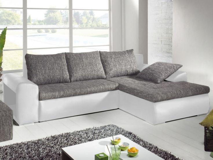 Superb Canape D Angle Reversible #11: Canapé Du0027angle Réversible Et Convertible Bimatière MISSISSIPPI - Gris/Blanc  | Appartement Meubles | Pinterest | Salons, Living Rooms And Room
