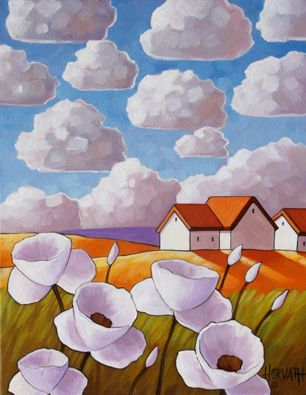 Flowers Clouds by Cathy Horvath Buchanan