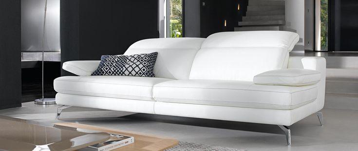 Canapé 3 places RECIFE relaxation en cuir de buffle