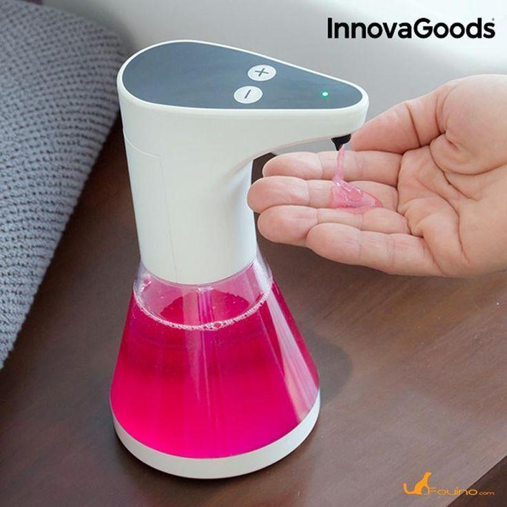 Distributeur automatique de savon :  Un distributeur de savon commode et pratique pour la cuisine ou la salle de bains qui dispose d'un capteur d'approche pour expulser le savon nécessaire quand il détecte la présence des mains.